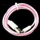 100cm (pink) Lollipop Kabel mit Adapter für Apple Geräte ab iPhone 5