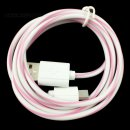 100cm (rosa) Lollipop Kabel mit Adapter für Apple Geräte ab iPhone 5